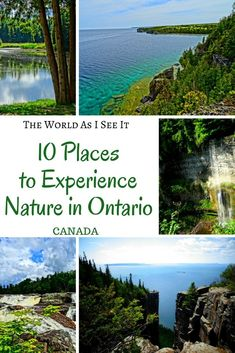 Discover the top 10 places to experience nature in the great outdoors of Ontario, Canada Vancouver, Toronto Canada, Alberta Canada, Quebec, Ontario Travel, Canada Destinations, Canadian Travel, Canadian Rockies, Travel Inspiration