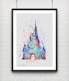 Hey, I found this really awesome Etsy listing at https://www.etsy.com/listing/216989498/cinderellas-castle-disney-watercolor-art