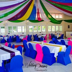 Whoever said you had to limit yourself to a two or three colour scheme? Tell us your ideas and we will make your wedding dreams come true.