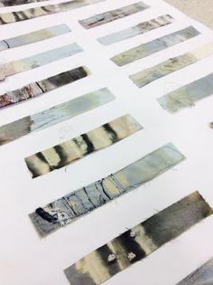 Love this presentation Emily Notman - Samples Textiles Sketchbook, Textiles Techniques, Art Abstrait, Sketchbook Inspiration, Fabric Manipulation, Mark Making, Textile Artists, Portfolio, Medium Art