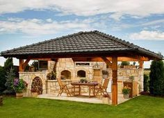 New backyard grill area outdoor pizza ovens 39 Ideas Outdoor Kitchen Patio, Pizza Oven Outdoor, Outdoor Kitchen Design, Outdoor Rooms, Outdoor Living, Outdoor Kitchens, Backyard Fireplace, Fireplace Outdoor, Built In Grill