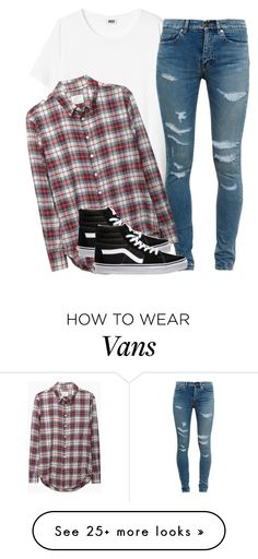 """""""Untitled #2051"""" by dreakagotswagg on Polyvore featuring Yves Saint Laurent, Band of Outsiders and Vans"""