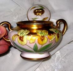 RARE Signed W G & Co Limoges Sugar Bowl. MINT by ChinaGalore, $1249.00
