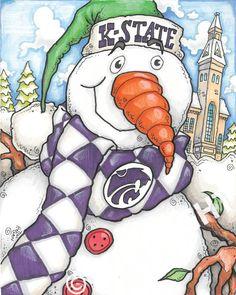 Kansas State Snowman