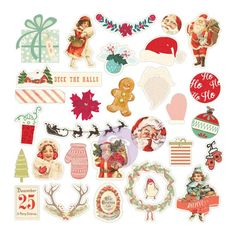 Prima - Sweet Peppermint Collection - Chipboard & More