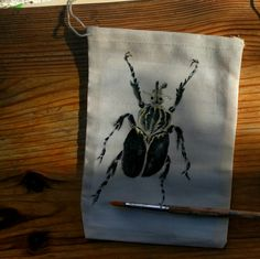 Heinonen June 2016, Insect on linen pocket