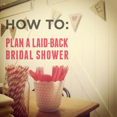 How To Plan A Laid Back Bridal Shower:  Great gift ideas:  create a cookbook out of recipes from guests and give it out as the shower favor. Also, give brides a self-inking address stamp for all the thank yous!
