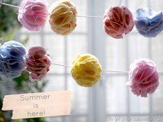 Fabric garland | pompom garland | no sew | how to make tutorial | citygirlgonecoastal.blogspot.co.uk