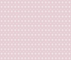 simple skull and heart repeat nude fabric by policunha on Spoonflower - custom fabric