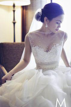 Decote com Tule para o Vestido de Noiva #vestidodenoiva #weddingdress #casamento #noiva #bride #wedding