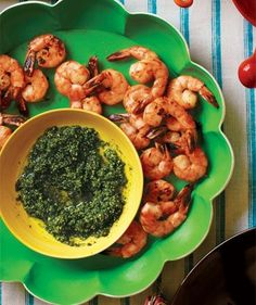 Roasted Shrimp With Pepita Pesto | A crowd-pleasing Mexican fiesta, spiced up with surprising yet simple dishes.