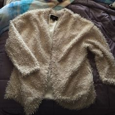 Fuzzy Cardigan ✨ from h&m! Super cute, just doesnt fit me :) No damage! Make an offer  (Size 14) H&M Sweaters Cardigans