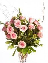 Deluxe Long Stem Roses Arranged - Holiday Colors