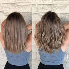 Beige brondes Cut and color correction by cute hair colors - Hair Color Ash Brown Hair Color, Brown Hair Shades, Brown Hair With Highlights, Light Brown Hair, Dark Hair, Blond Brown Hair, Beige Hair Color, Aveda Hair Color, Ash Color