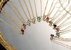 K18 birthstone necklace  K18 誕生石 ネックレス liberty