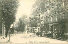 La rue d'Alésia vers 1905 (Paris 14e)
