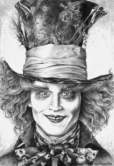 mad hatter drawing - Google Search