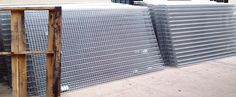 """Folding Guard Security Cages NYC.  8x4 Partitions $79.00ea. In stock NJ.   Gale's Industrial Supply has in stock Folding Guard Galvanized Panels, Panels 8-gauge galvanized welded wire mesh  with 11/2""""x 3"""" grid openings and 1""""bends on top  and bottom. Stack panels to create heights of 20' and over. Hardware included. Also in stock, P8 posts, 4x8 Hinged doors, Ceilings, etc. All brand new, Daily deliveries and installations. P(732)489-3867. Folding Guard Tenant Storage Cages New York City… New York City Ny, Wire Mesh, Cage, Lockers, Locker Storage, Nyc, Wire Trellis, Safe Deposit Box, Closets"""