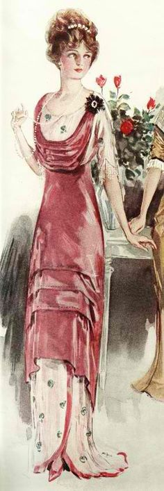 Pink Skirt, Pink Cowl, and Lawn - 1912 - Dress instructions - @~ Watsonette