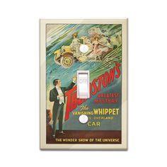 Thurston's The Vanishing Whippet - Vintage Ad (Light Switchplate Cover)