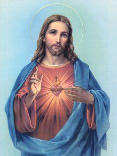 Jesus Cristo com manto azul