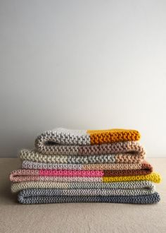 Super Easy Blankets in New Colors   Purl Soho