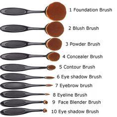 Pro Beauty Toothbrush Shaped Foundation Power Makeup Oval Cream Puff Brushes Makeup Tutorial Foundation, Foundation Brush, Powder Foundation, Elf Brushes, It Cosmetics Brushes, Makeup Brushes, Blush Makeup, Love Makeup, Cheap Makeup