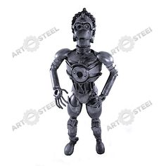 This C-3PO statue uses nuts, ball bearings, screws and spark plugs.  $59.99