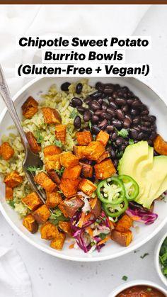 Tasty Vegetarian Recipes, Vegan Dinner Recipes, Whole Food Recipes, Diet Recipes, Salad Recipes For Dinner, Super Food Recipes, Clean Eating Dinner Recipes, Health Food Recipes, Vegan Sweet Potato Recipes