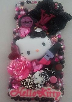 Hello Kitty Cat Handmade Iphone Phone Case Cover Bling 5 6 Plus Note 3 4