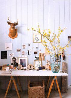 lovely working space / elledecor6