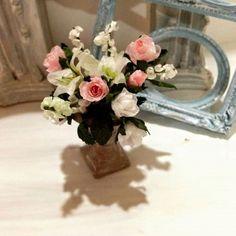 Floral center roses miniatures por minismarillum en Etsy