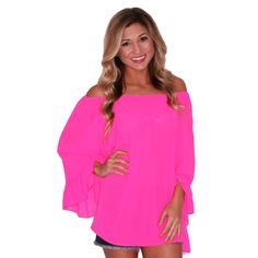 Sweet & Care Free Top in Hot Pink | Impressions Online Women's Clothing Boutique
