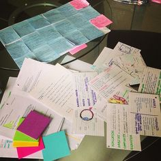 study materials - sticky notes, cue cards, charts, and schedules Revision Motivation, School Motivation, Study Motivation, Study Skills, Study Tips, College Notes, College Life, Uni Life, School Notes