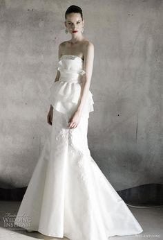Bellantuono peplum wedding gown from the 2010 bridal collection