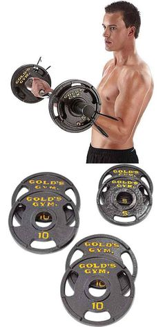 Weight Plates 179817: Olympic Plate Set 50Lb Beginner Weight Training Home Gym Workout -> BUY IT NOW ONLY: $58.85 on eBay!