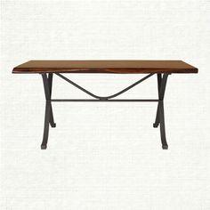 "Arvada 60"" Rectangle Dining Table With Iron Arvada Base In Brown   Arhaus Furniture"
