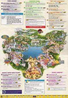 Universal Studios Orlando map of area | Universal Studios Guide Map.