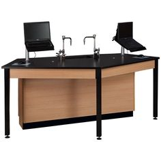 "Four-Student Pentagon Laptop Table - 85""W x 47""D x 36""H at SCHOOLSin"