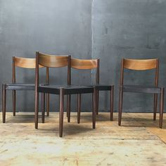 4 Danish Teak Desk/Dining Chairs Poul Volther for Frem Rojle Need some TLC