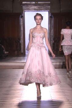 Rainbow Wedding Dress, Gorgeous Wedding Dress, Beautiful Dresses, Haute Couture Dresses, Tony Ward, Royal Blue Dresses, Tea Length Dresses, Yellow Fashion, Luxury Dress
