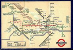 Henry Beck hand-lettered over characters in Railway Type for trial printing of his London Underground map. IMAGE Beck's innovative map design for the London Underground, London Underground Tube Map, London Tube Map, London Map, Palace London, William Morris, Harry Beck, Art Nouveau, London Transport Museum, Public Transport
