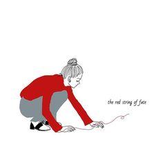 2017/03/07 . . 「赤い糸」 . . . #運命の赤い糸#redstring #illustagram#illustration#illust #イラスト#お絵描き#girl#ibispaint #painting#drawing#iphone6s