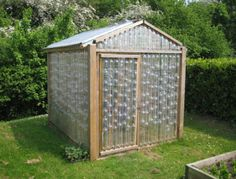 Make your own greenhouse from recycled plastic bottles