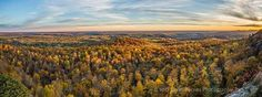 The panoramic view from South Bluff near Rockland.