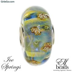 Elfbeads Ice Springs from the Festifall Collection G160803 Glass Bead at GirleGo FREE UK First Class Delivery