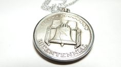 Bicentennial Coin Necklace by EstateHeirlooms on Etsy