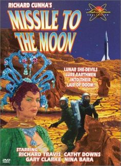 Directed by Richard E. Cunha.  With Richard Travis, Cathy Downs, K.T. Stevens, Tommy Cook. Escaped convicts Gary and Lon are caught hiding in a rocket by scientist Dirk Green, who forces them to pilot the ship to the moon. Dirk, who's secretly a moon being, wants to return to his home satellite. Dirk's partner Steve Dayton and his fiancé June stowaway on the ship by accident. Will they all make it back safely?