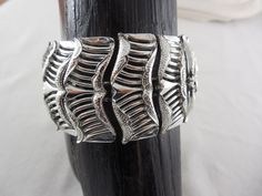 "Vintage Coro 1960's Wide Abstract Silver Tone Links Bracelet  1.5""  Wide With Safety Chain by Dockb30Crafts on Etsy"