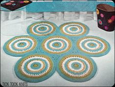 No.115 PDF Vintage Crochet Pattern - Rug Of Circles.  via Etsy.